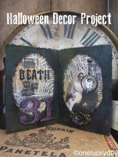 One Lucky Day: Till Death Do We Part... using Tim Holtz, Ranger, Sizzix and Stamper's Anonymous products; Oct 2014