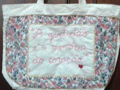 bolsa customizada gratidão