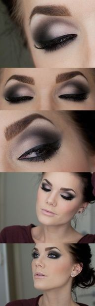 grey smokey eye shad