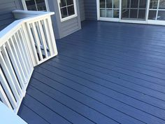 George Rozell Painting Love the blue, would want the deck rails to be a brown color Painted Wood Deck, Painted Porch Floors, Deck Stain Colors, Deck Colors, Blue Wood Stain, Outdoor Deck Decorating, Outdoor Decor, Gazebo On Deck, Deck Makeover