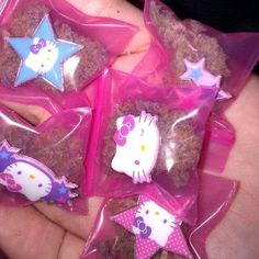cannabis in cute little Hello Kitty baggies! Ganja yes