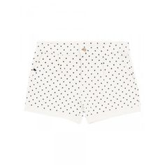 Girl's white shorts with blue micro polka-dots SUN68 SS15 KIDS #SUN68 #SS15 #kids #girl #shorts
