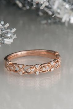 Simply beautiful rose gold wedding band.