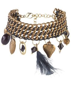 Women's Outlet Accessories | Feather & Chain Charm Bracelet | Women's Outlet at Joe Browns