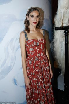 Getting her glad rags on: Alexa Chung attended Le Bal Surrealiste Dior during Haute Couture Spring Summer 2018 show as part of Paris Fashion Week on Monday night, amid claims her fashion business has made a loss