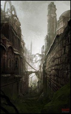 Mark Molnar - Sketchblog of Concept Art and Illustration Works: City Ruins - Speedpainting