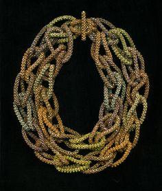 Cubic Loop necklace as a choker- Jacqueline Johnson. Super cool.