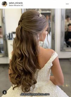 Beautiful ideas for glamorous wedding hair half up half down hairstyles 27 - empyreandivine in 2 Beautiful ideas for glamorous wedding hair half up half down hairstyles 27 - empyreandivine. Sweet 16 Hairstyles, Quince Hairstyles, Wedding Tiara Hairstyles, Quinceanera Hairstyles, Down Hairstyles, Drawing Hairstyles, Updo Hairstyle, Pretty Hairstyles, Wedding Hair Half
