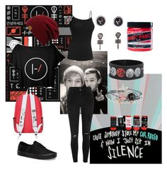 """""""twenty one pilots"""" by jungkookielove ❤ liked on Polyvore featuring Icebreaker, River Island, Vans and Manic Panic NYC"""