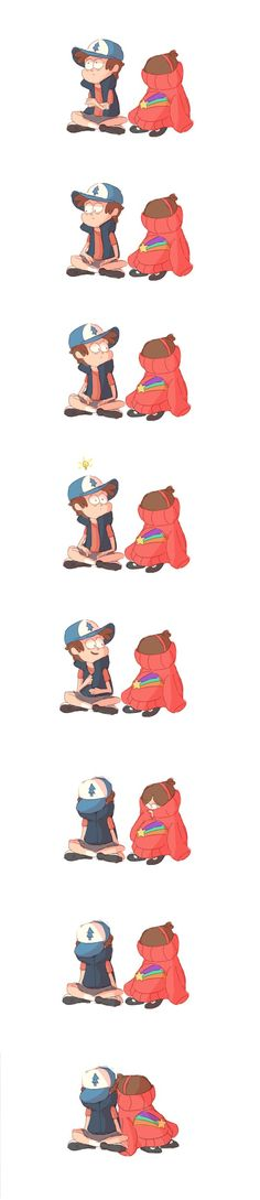 Dipper always trying to make Mabel smile = ^. ^ =