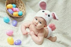 Baby easter photoshoot we did. Photo Bb, Jolie Photo, Newborn Pictures, Baby Pictures, Easter Pictures For Babies, Monthly Pictures, Baby Kalender, Holiday Photography, Photography Ideas