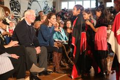 Kate Middleton Photos Photos - Catherine, Duchess of Cambridge attends an official welcome performance during her visit to first nations Community members on September 25, 2016 in Bella Bella, Canada.