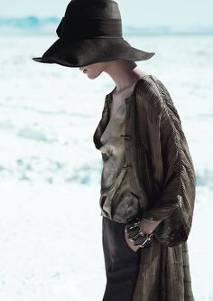 Giorgio Armani Spring/Summer 2012| Milou van Groesen by Mert & Marcus!    What a gorgeous outfit!!! Love the hat <3