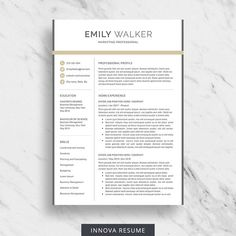 ee3bc2b0981 Professional resume template for Word with matching cover letter and  reference page - Instant download.