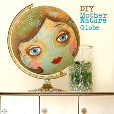 plaschneider   DIY Mother Earth Globe