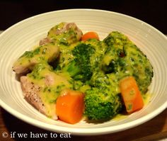 easy multi-layered #Thermomix #varoma #recipe: Chicken and Veg with Leek Mustard Sauce