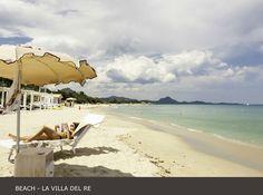 La Villa del Re, 5 star hotel in Sardinia front-sea with luxury services. Costa Rei, Luxury Services, Hotel Guest, Beach Umbrella, Beach Pool, White Stone, Sardinia, Summer Sun, 5 Star Hotels