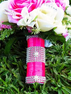 Hot Pink Wedding Bouquet Heirloom Bouquet by AngelicasBridal, $190.00