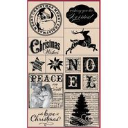 Hampton Art Hot Fudge Studio Mounted Stamp Set Peace On Earth