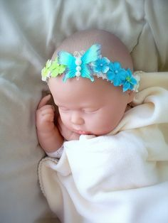Baby Gril Butterfly dreams headband by ParesCreations on Etsy, $6.00