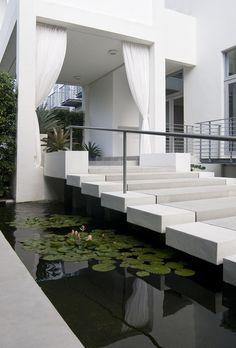 Modern Entrance Design by Brown Davis Interiors [always wanted something similar… Modern Exterior, Exterior Design, Interior And Exterior, Modern Entrance, Entrance Design, House Entrance, Grand Entrance, Contemporary Landscape, Landscape Design