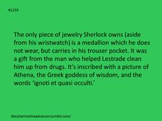 """Submission by Anonymous.  - Sherlock Head Canon. """"Unknown and a Secret."""""""