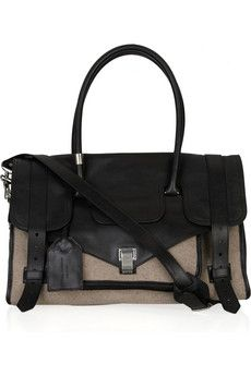 Proenza Schouler Medium PS1 Travel leather and felt tote | THE OUTNET