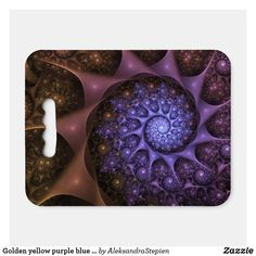 seat cushion created by AleksandraStepien. Stadium Seat Cushions, Stadium Seats, Logo For School, Geometric Flower, Golden Yellow, Fractals, Light In The Dark, Fundraising, Spiral