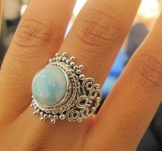 Larimar Ring Made to Order HandCrafted by KaisraJewelry on Etsy, $44.99
