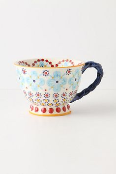 With a Twist Tea Cup $12 from anthropologie.com ~Type 1's could have a field day on this website. So many cute and quirky things.
