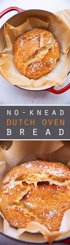 No-Knead Dutch Oven Bread - this recipe requires just 4 simple ingredients! And even the most amateur bread maker can make this! #dutchovenbread #artisanbread #nokneadbread   Littlespicejar.com @littlespicejar
