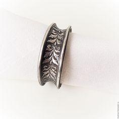 Купить Кольцо для салфетки АМПИР (салфеточные кольца, винтаж) - серебряный цвет, предмет сервировки, винтаж
