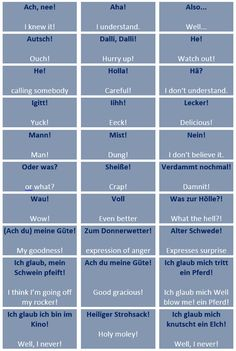 Common German exclamations/interjections - learn German,interjections,vocabulary,german