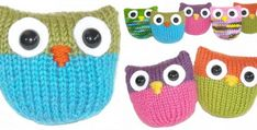 These super cute and colorful knitted owlie puffs make for the perfect scrap yarn project. The owl puffs are a fun knitting project suitable for newbies . Owl Knitting Pattern, Loom Knitting, Knitting Patterns Free, Free Knitting, Baby Knitting, Free Pattern, Yarn Projects, Knitting Projects, Knitting Ideas