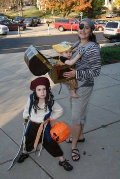 Fun costume for taking your little treasure along trick-or-treating