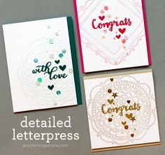 Video: Faux Detail Letterpress & Giveaway | Jennifer McGuire Ink