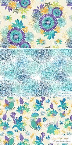 Moira Fuller - freelance surface pattern designer   Desktop Garden