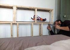 Notre tête de lit multifonctions pour 50 euros* – Misc Webzine First Home, Loft, Bedroom, Furniture, Images, Home Decor, Headboards, Home Ideas, Home Decoration