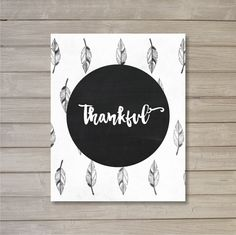 Thankful Thanksgiving Feathers Tribal Wall Art by FebruaryLane