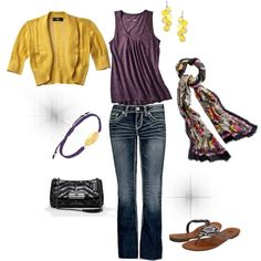 Purple and Yellow outfit