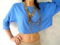 blue + chunky necklace