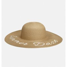 Avenue Summer Daze Sun Hat (22 CAD) ❤ liked on Polyvore featuring accessories, hats, plus size, tan, summer hats, embroidered hats, beach hat, tan hat and summer beach hats
