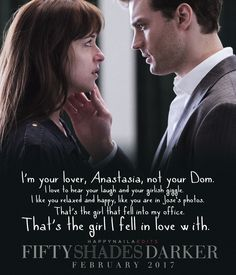 I'm your lover, not your Dom. #FiftyShades