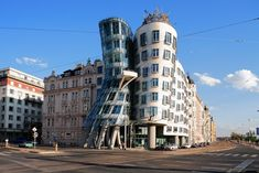 Fred & Ginger - Dancing House, Prague's postmodern masterpiece designed in partnership by Frank Gehry and Mr. Milunić