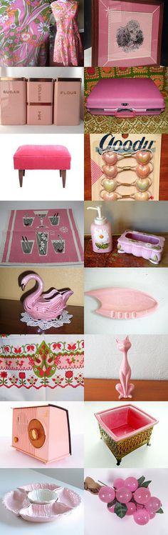 Pretty In Vintage Pink. by livingavntglife on Etsy--Pinned with TreasuryPin.com