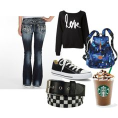 """""""Time for School"""" by osnapitzbec on Polyvore"""