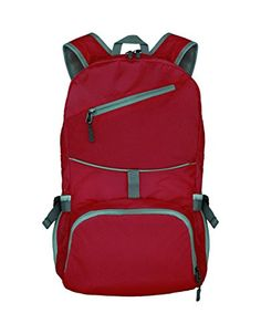 qingstart 25L Packable Handy Lightweight Travel Backpack Outdoor Foldable Backpack Daypack Red *** You can find more details by visiting the image link.