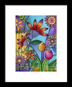 Wild Flowers Framed Print by Carla Bank. All framed prints are professionally printed, framed, assembled, and shipped within 3 - 4 business days and delivered ready-to-hang on your wall. Choose from multiple print sizes and hundreds of frame and mat options.