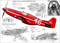 P51 Mustang Blue Prints - plane, blue, airplane, p51, p-51, wwii, north, mustange, american, ww2, red, print
