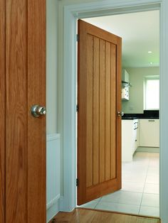 Oak Internal interior door looking good in a modern house.